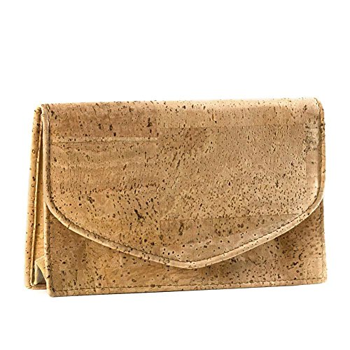 Trousse à maquillage en liége -Clutch Corkorbrun clair