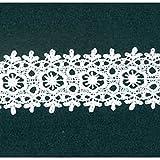 Weiß 44mm breit schwere Guipure-Spitze Craft, Meterware,