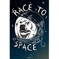 Race to Space Notebook: Space Astronaut Bear Journal Galaxy Universe Cosmos Composition Book Spaceman Gift