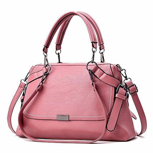 GQFGYYL Neue umhängetasche, Frauen - Tasche, Mode, Weiches Leder Handtaschen, Schulranzen,Pink