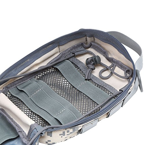 51%2BI8dFV3ZL - Botiquín de primeros auxilios EMT Bolsa táctica compacta MOLLE Botiquín médico 1000D para viajes en el lugar de trabajo al aire libre en el hogar (gris)