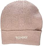 Tommy Hilfiger Effortless Knit Beanie, Gorro de Punto Mujer, Rosa (Silver Pink 655), Talla única (Talla del Fabricante: OS)