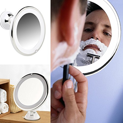 illuminated magnifying mirrors for bathrooms ruimio makeup mirror 7x magnifying lighted makeup mirror 23527
