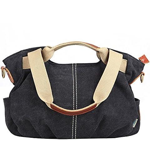 EshowWomen's Vintage Canvas Shopper Totes Top Handle handbag Cross body
