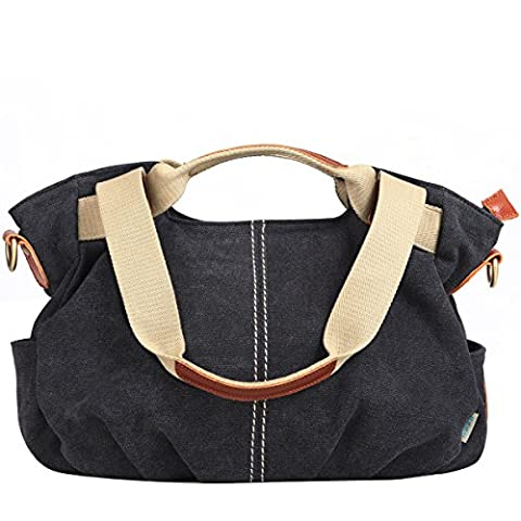 EshowWomen's Vintage Canvas Shopper Totes Top Handle handbag Cross body Shoulder Bag Leisure Hobo Bags ,