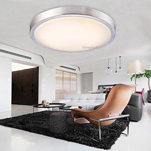 HengdaR 24W LED Deckenleuchte Modern Deckenlampe Warmweiss Flur Wohnzimmer Lampe Schlafzimmer 85V 265V Amazonde Kche Haushalt