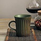 FUXIAOCHEN Gestreifter Tee Kaffee Kreative Retro Kaffeetassen Retro-Stil Handgemachtes Einfache Steinzeug Frühstück Wasser Becher Tasse, C.