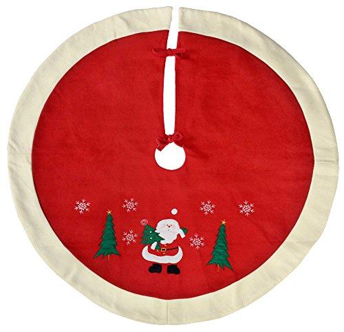 WeRChristmas–Figura decorativa de Papá Noel Tradicional Decoración para base de árbol de...