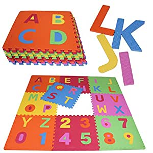 PRINZBERT de mat lettre de puzzle 9 tapis 71 pcs. Puzzleteppich crŽatif playmat playmat colorŽ anti-dŽrapant tapis de mousse apprentissage tapis robuste surface de jeu sans pollution avec un effet d'apprentissage