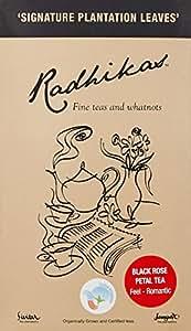 Radhikas Organic Whole Leaf Black Rose Petal Tea, 100g