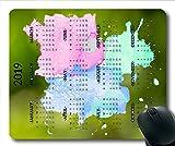 Yanteng Calendrier 2019 Calendrier de Calendrier, année calendaire Tapis de Souris de Jeu, Calendrier 2019 avec détails de Vacances.