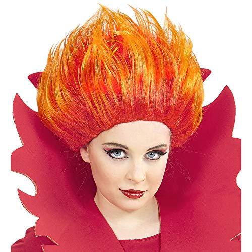 Widmann - Perücke Flammen für - Feuer Kostüm