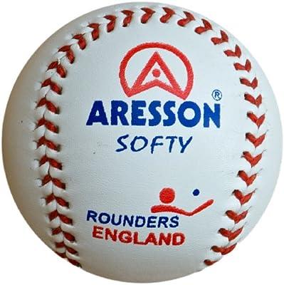 Aresson Softy - Pelota de rounders (19 cm), blanco