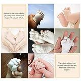 Poudre de clone de moulage en plâtre enfants 3D empreintes de mains empreintes de pas bébé main et moulage des pieds Mini processus de consolidation de la sécurité Kit, blanc