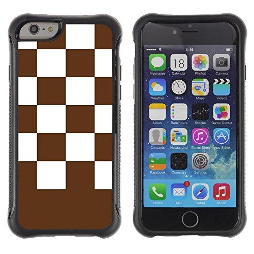 Graphic4You Kariert Muster Design Shockproof Anti-Rutsch Weichen Hülle Case Tasche Schutzhülle für Apple iPhone 6 / 6S (Grün) Brun