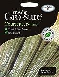 Unwins Graines de courgette Paquet–Imagé Romano F1–10graines