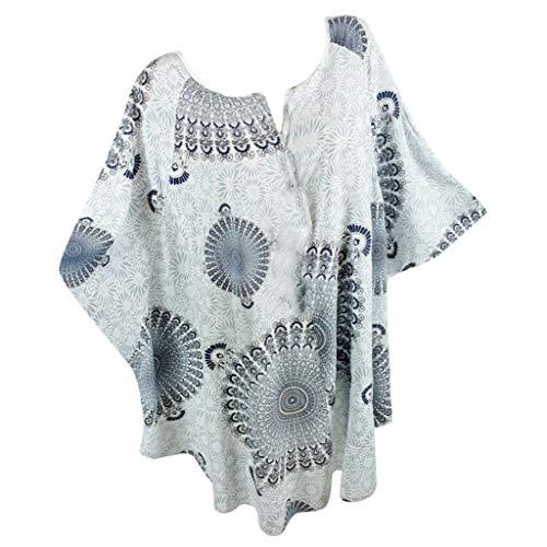 SHINEHUA Damen T-Shirt Kurzarm Shirt Große Größen Oberteile Half Sleeve Bluse Frühling Sommer Herbst T Shirt Tunika Tops Longshirt Basic V-Ausschnitt Tuniken Blusen Oberseiten -