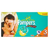 Pampers Baby-Dry Size 3 Midi Nappies - 2 x Jumbo Packs of 96, total 192 Nappies (Pack of 2)