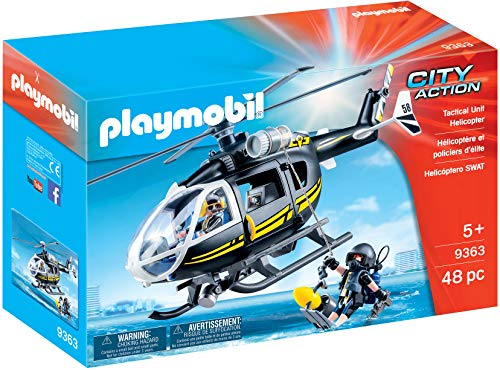 Playmobil Hélicoptère et policiers d'élite, 9363
