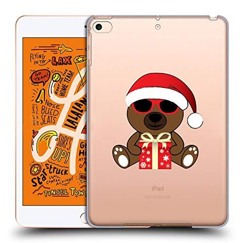 Head Case Designs Offizielle PLdesign Santa BAER Mit Sonnenbrillen Weihnachten Harte Rueckseiten Huelle kompatibel mit iPad Mini (2019)