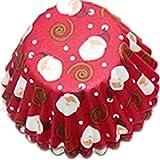 Cupcakeformen 1 Pkg (100 Stück) Pralinen-FÖRMCHEN Mini-Cupcake-Formen für Weihnachten, 4,5x2cm: ROT WEIHNACHTSMANN