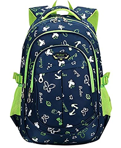 SellerFun® Unisex Kid Child Boy Girl Printed Oxford Backpack School Bag(Dark Blue,Large)