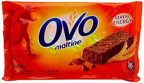 Ovomaltine Barres diététiques au chocolat - 5 barres de 20 g - Lot de 3
