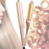 Hair Straightener and Curler, Professional 2 in 1 Flat Iron for Hair Straightening