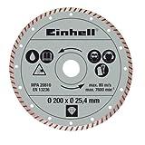 Einhell Diamant Trennscheibe passend für Radial-Fliesenschneidmaschinen (200x25,4 mm, Turbo)