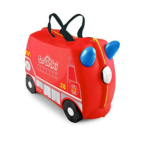 1e8146e68 Trunki Children's Ride-On Suitcase & Hand Luggage: Frank Fire Engine ...