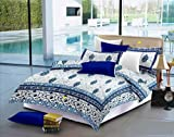 Fab Nation Jaipuri Traditional Elephant Print Cotton Double Bed Sheet with 2 Pillow
