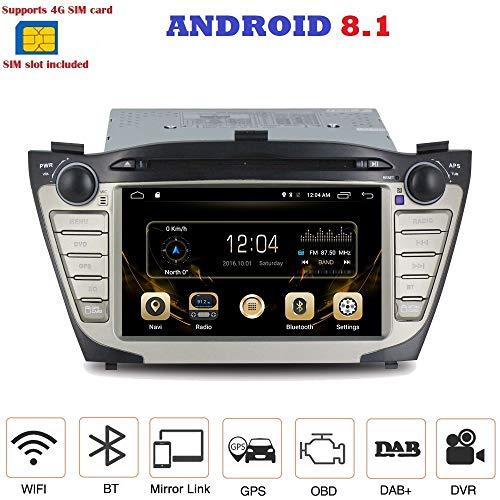 Android 7.1 4G LTE GPS DVD USB SD WI-FI Bluetooth Mirrorlink Autoradio 2 DIN Navigationssystem Hyundai IX35 2009, 2010, 2011, 2012, 2013, 2014 2 Gb Ipod Touch