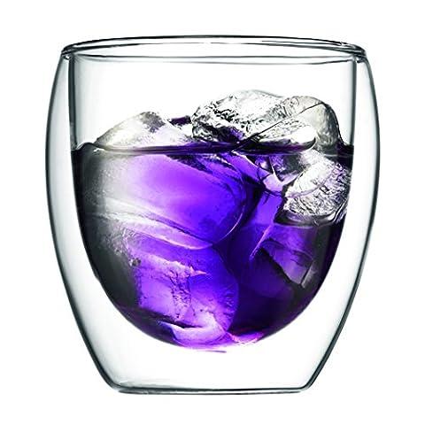 Bodumpavina 2-teiliges Gläser-Set (Doppelwandig, Isoliert, Mundgeblasen, 0,25 liters) transparent