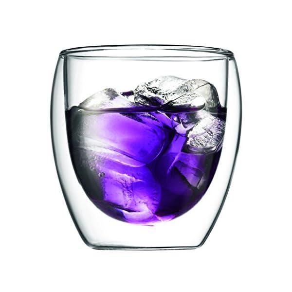 Bodum Pavina - Set de 6 Vasos térmicos, Cristal borosilicato 4