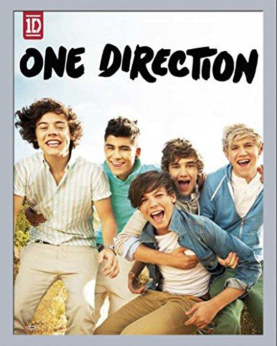 empireposter - One Direction - Album - Größe (cm), ca. 40x50 - Mini-Poster + Wechselrahmen der Marke Shinsuke Mini aus schwerem MDF Holzfaserwerkstoff, silber - mit Acrylglas-Scheibe.