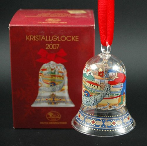 Hutschenreuther cristal cloche 2007, noël, cloche en verre, kristallglocke clochette verre