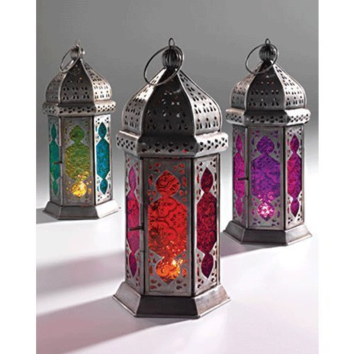 Lindsay Interiors - Farol para velas, color: morado