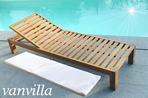 vanvilla vanvilla Sonnenliege Gartenliege Holz Relaxliege Liegestuhl BALIMO
