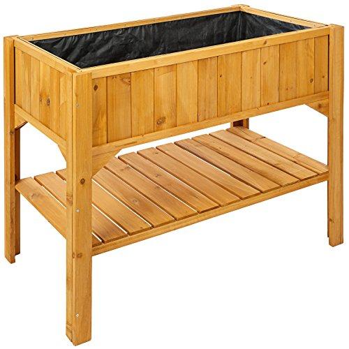 TecTake Jardinière surélevée avec étage inférieur de stockage en bois 119 x 53 x 90 cm