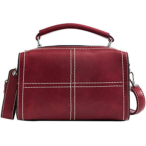 SANFASHION Sacs Sac à Main Femme, Sac à Dos En Nylon Oxford Cloth Ladies Sac Casual - rouge