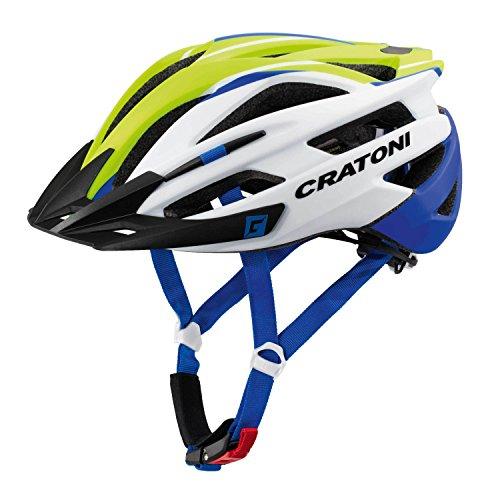 Cratoni Agravic Fahrradhelm, Lime/White/Blue Matt, L-XL