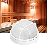 Jacksking Lampada Sauna, Lampada Professionale Rotonda a Prova di Esplosione ad Alta Temperatura per Sauna Bagno Uso 220V