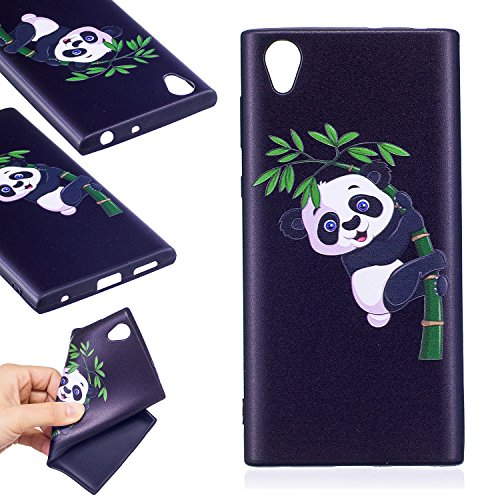 Sony Xperia L1 Coque,Linvei Premium TPU Silicone Coque Ultra Mince/Anti-Dérapant/Conception de Modèle de Couleur - Panda bambou
