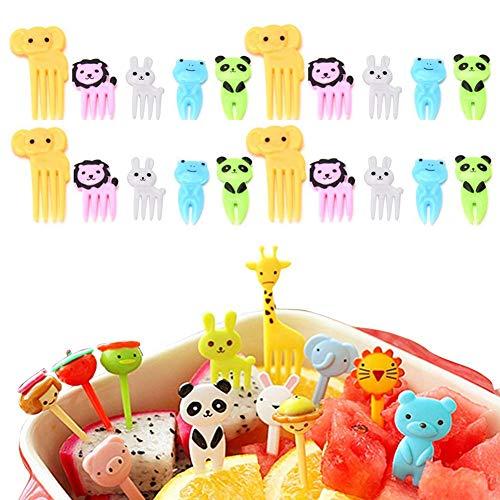 Fellibay Mini-Gabeln und Spießchen für Lebensmittel, Obst, Kuchen ideal für Kinder