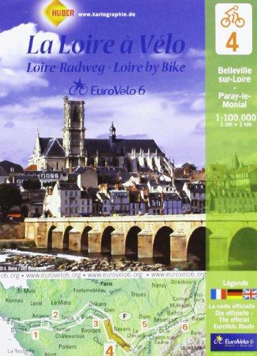 La Loire à Vélo : Belleville-sur-Loire-Paray-le-Monial, 1/100 000 par Huber Verlag