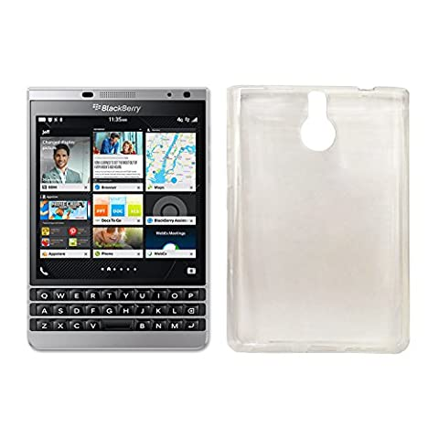 Owbb Coque Silicone pour Blackberry Passport Silver Edition Housse TPU Anti-Rayures - transparent