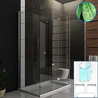 Cabina de ducha/U de ducha 3078193010métrica 90x 140x 195/U de cabina de ducha incluye los arañazos de vidrio/altura 195cm/Mampara/Ducha/Easy Clean Cristal 6mm
