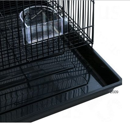 Rectangular Dark Metal Bird Cage - A Very Elegant Birdcage for your Feathered Friends 5