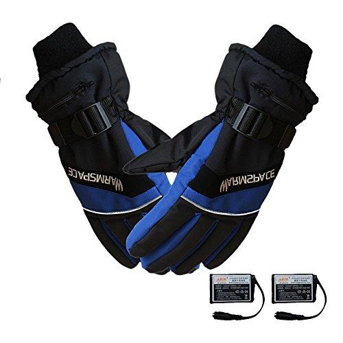 Beheizte Handschuhe, USB-wiederaufladbare beheizbare Finger, Warm, Sicher, konstante Temperatur, Händewärmer für Radfahren, Motorradfahren, Fahrradfahren, Winter, Ski , L: width: 12 cm (Handschuhe Beheizte Sichere)
