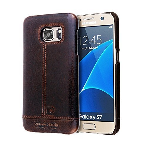 Galaxy-S7-Case-Pierre-Cardin-Premium-Genuine-Leather-Lightweight-Slim-Snap-On-Back-Cover-for-Samsung-Galaxy-S7-Coffee-Brown